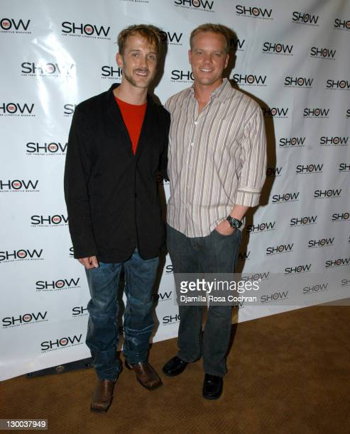 Jeff Whitty and Jason Moore during 1st Annual Show People Tony Awards Party at Gotham Hall in New York City New York United States