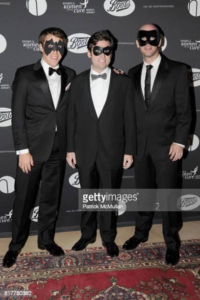 Jeff Wielgopolan Billy Gilbane and Matthew Hintermeister attend VIP MASKED BALL for Susan G Komen Headlined by Sir Richard Branson Katie Couric...
