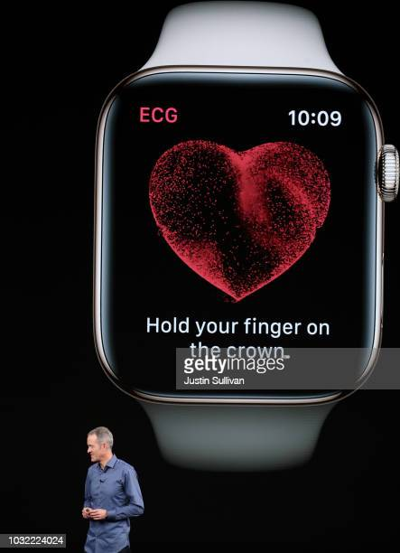 Jeff Williams, chief operating officer of Apple Inc., speaks during an Apple event at the Steve Jobs Theater at Apple Park on September 12, 2018 in...