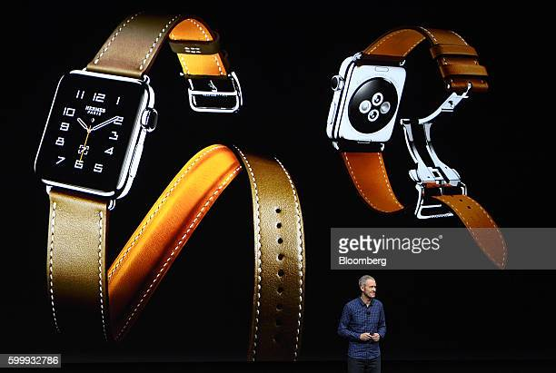 Jeff Williams chief operating officer of Apple Inc unveils the Apple Watch 2 during an event in San Francisco California US on Wednesday Sept 7 2016...