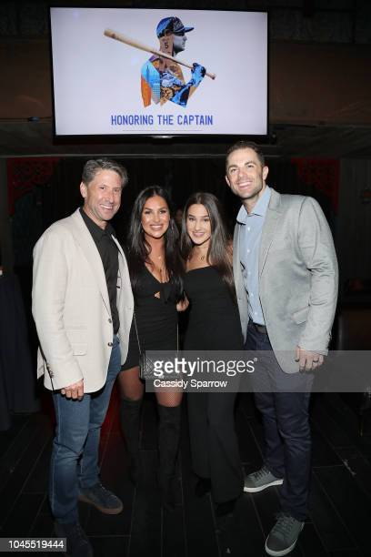 Jeff Wilpon Alexa Levinson Ashley Levinson and David Wright attend Private Dinner Honoring David Wright at TAO Downtown on September 30 2018 in New...