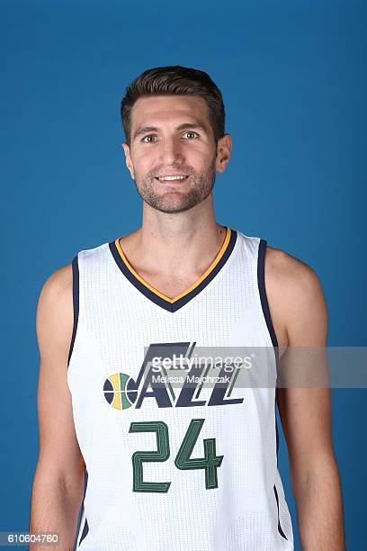 Jeff Withey of the Utah Jazz poses for a headshot during 20162017 Utah Jazz Media Day at Zions Bank Basketball Center on September 26 2016 in Salt...