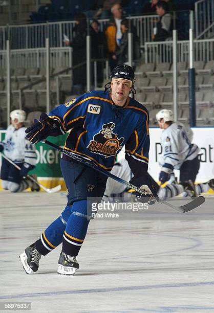 Jeff Woywitka of the Peoria Rivermen skates against the Toronto Marlies at Ricoh Coliseum on February 3 2006 in Toronto Ontario Canada The Rivermen...