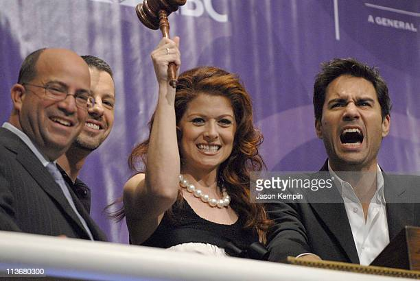 Jeff Zucker CEO NBC Universal Television Group Sean Hayes Debra Messing and Eric McCormack