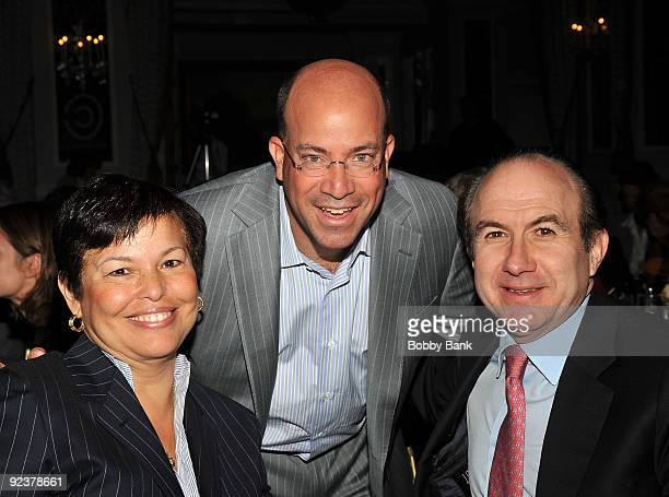 Jeff Zucker , CEO of NBC Universal, Debra L. Lee, Chairman and CEO BET Networks and Philippe Dauman, President and CEO Viacom attends the 2009 Center...