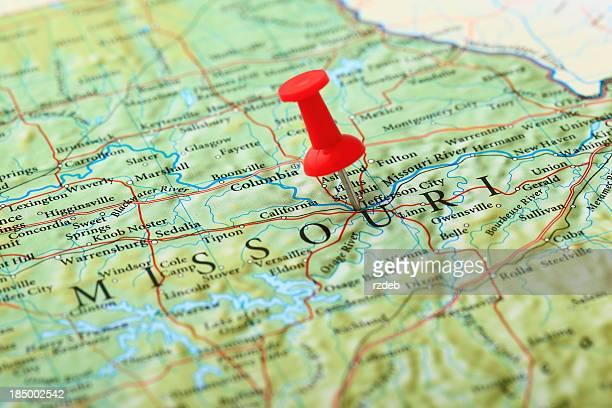 jefferson city map, missouri - usa - missouri stock pictures, royalty-free photos & images