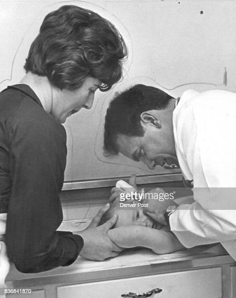 Jefferson County, Colorado - Health Department Steve Freese son of Mr. And Mrs. Arthur Freese of Conifer, gets a checkup at the Pleasant View Well...