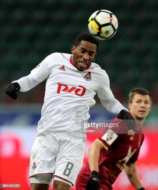 Jefferson Farfan of FC Lokomotiv Moscow in action during the Russian Premier League match between FC Lokomotiv Moscow and FC Rubin Kazan at Lokomotiv...
