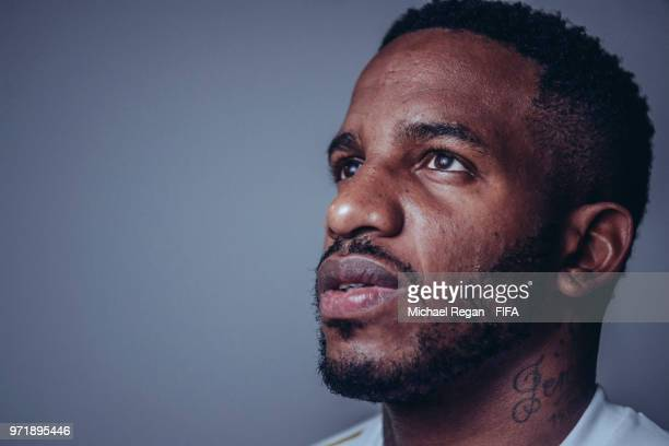 Jefferson Farfan of Peru poses during the official FIFA World Cup 2018 portrait session at on June 10 2018 in UNSPECIFIED Russia