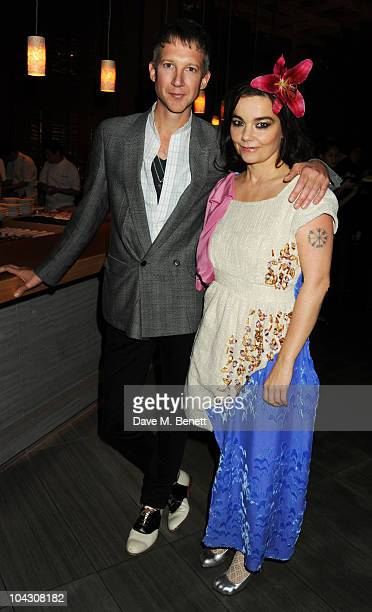 Jefferson Hack and Bjork attend private dinner hosted by AnOther Magazine to celebrate the latest cover star Bjork at Sake No Hana on September 20...