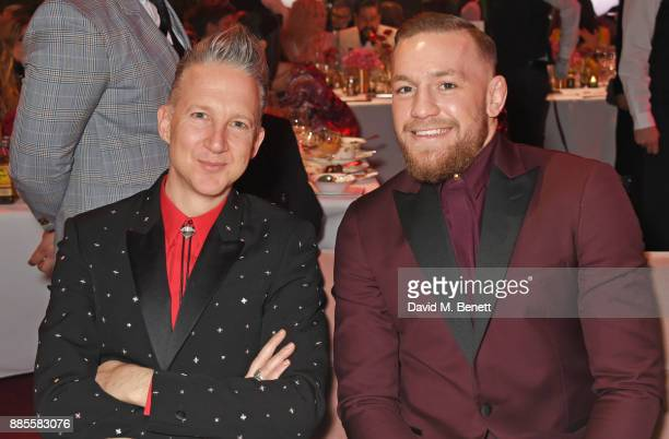 Jefferson Hack and Conor McGregor attend a drinks reception ahead of The Fashion Awards 2017 in partnership with Swarovski at Royal Albert Hall on...