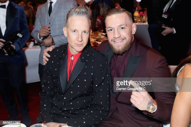 Jefferson Hack and Conor McGregor attend The Fashion Awards 2017 in partnership with Swarovski at Royal Albert Hall on December 4 2017 in London...