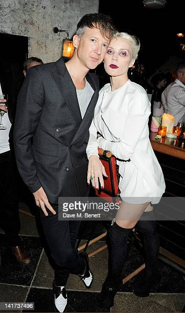Jefferson Hack and Daphne Guinness attend a private dinner celebrating the Spring/Summer issue of Another Man magazine and the UK launch of BLK DNM...