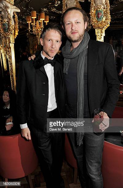 Jefferson Hack and Edward Spencer Churchill attend the AnOther Magazine and Dazed Confused party with Belvedere Vodka at the Cafe Royal hotel on...