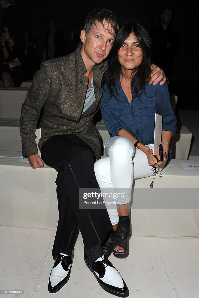 Jefferson Hack and Emmanuelle Alt attend the Alexander McQueen Ready to Wear Spring / Summer 2012 show during Paris Fashion Week on October 4, 2011 in Paris, France.