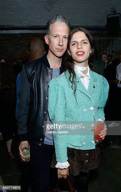 Jefferson Hack and Hayett McCarthy attend as DKNY X DAZED celebrate the launch of #DazedKidsNewYork at Shoreditch Studios on June 16 2016 in London...