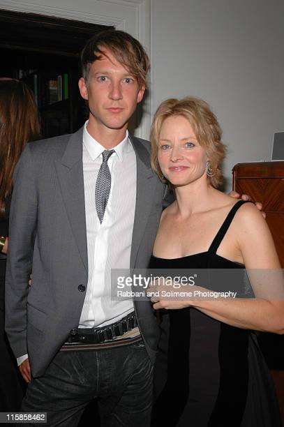 Jefferson Hack and Jodie Foster during 'Another Magazine' Party Featuring Jodie Foster at National Arts Club in New York City New York United States
