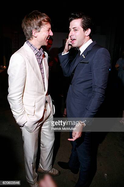Jefferson Hack and Mark Ronson attend ANOTHER MAGAZINE Dinner With BAMFORD and VILLENCY EMERGING FASHION FUND at DUSTIN YELLIN STUDIO on September 6...