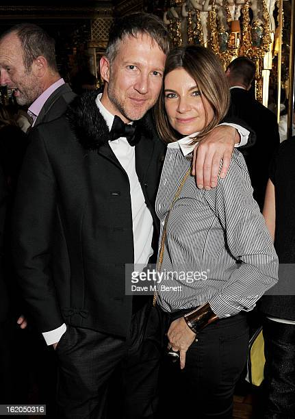 Jefferson Hack and Natalie Massenet attend the AnOther Magazine and Dazed Confused party with Belvedere Vodka at the Cafe Royal hotel on February 18...
