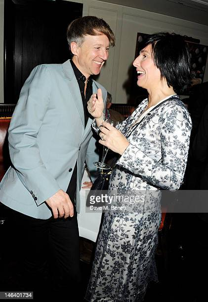 Jefferson Hack and Sharleen Spiteri attend the London Collections Men dinner hosted by designer Tom Ford and UK editor of GQ Dylan Jones at 34...