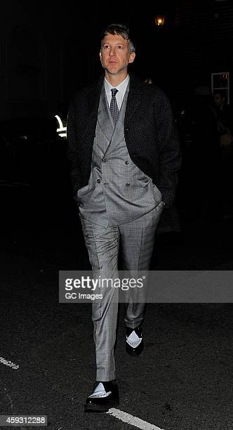 Jefferson Hack arrives at Mark's Member's Club for AnOther Man Party on November 20 2014 in London England