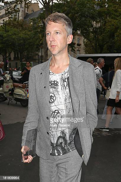 Jefferson Hack arrives to attend the Gareth Pugh show as part of the Paris Fashion Week Womenswear Spring/Summer 2014 on September 25 2013 in Paris...