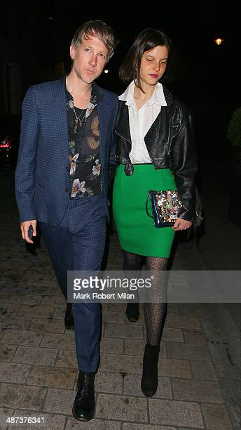 Jefferson Hack at the Connaught hotel for the Kate Moss x Top Shop Dinner on April 29 2014 in London England