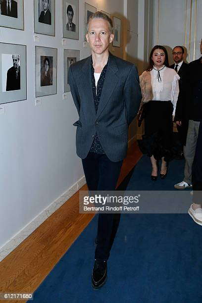 Jefferson Hack attends Alber Elbaz receives the Insigna of 'Officier de la Legion d'Honneur' at Ministere de la culture as part of the Paris Fashion...