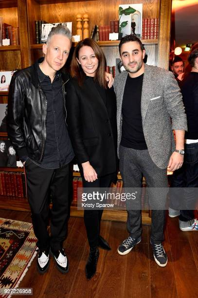 Jefferson Hack Chief Executive of the Britsh Fashion Council Caroline Rush and guest attend the London Show Rooms 10th anniversary party as part of...