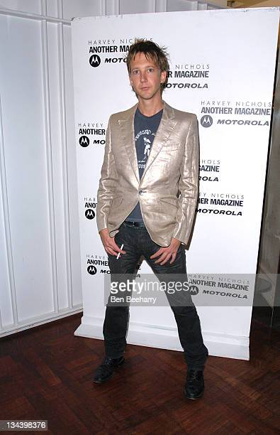Jefferson Hack during Alexander McQueen And Another Magazine Party at Harvey Nichols in London Great Britain