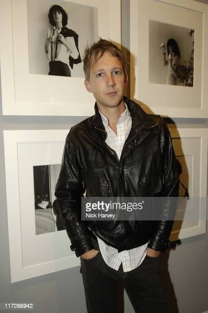 Jefferson Hack during Robert Mapplethorpe Exhibition Private View at Alison Jacques Gallery in London United Kingdom