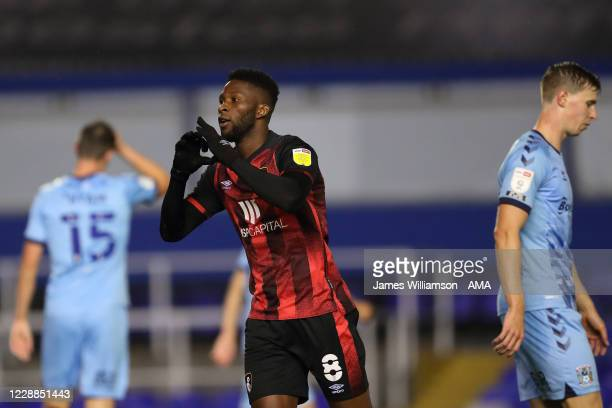 Jefferson Lerma of AFC Bournemouth celebrates after scoring a goal to make it 0-1 during the Sky Bet Championship match between Coventry City and AFC...