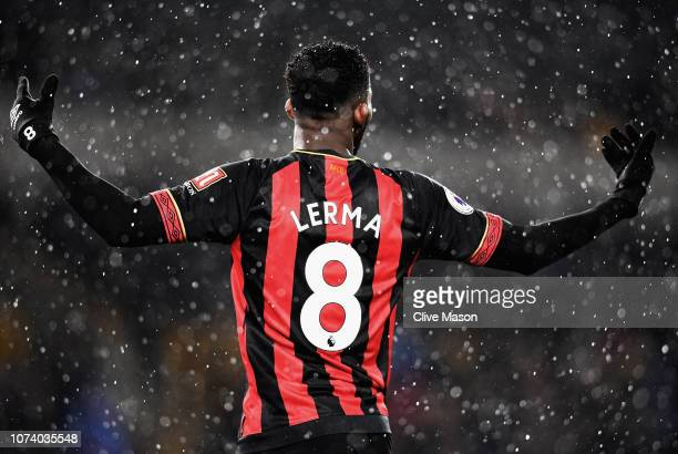 Jefferson Lerma of AFC Bournemouth reacts during the Premier League match between Wolverhampton Wanderers and AFC Bournemouth at Molineux on December...