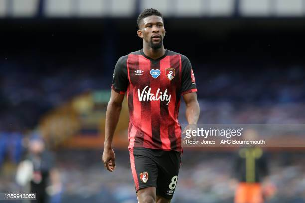 Jefferson Lerma of Bournemouth leaves the pitch after his side are relegated after the Premier League match between Everton FC and AFC Bournemouth at...