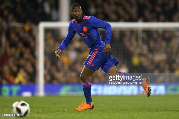 Jefferson Lerma of Colombia during the International Friendly match between Australia and Colombia at Craven Cottage on March 27 2018 in London...