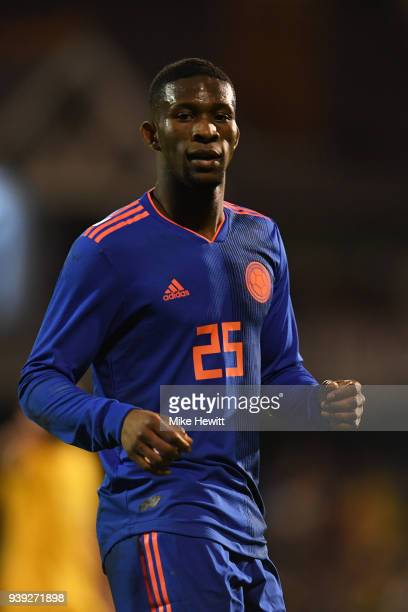 Jefferson Lerma of Colombia looks on during the International Friendly between Australia and Colombia at Craven Cottage on March 27 2018 in London...