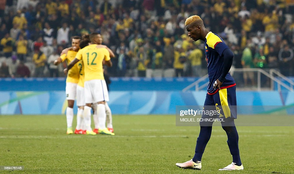 Brazil vs Colombia Quarter Final: Men's Football - Olympics: Day 8