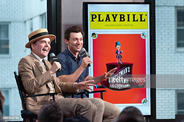 Jefferson Mays and Bryce Pinkham attend AOL BUILD Speaker Series A Gentleman's Guide to Love and Murder at AOL Studios In New York on September 3...