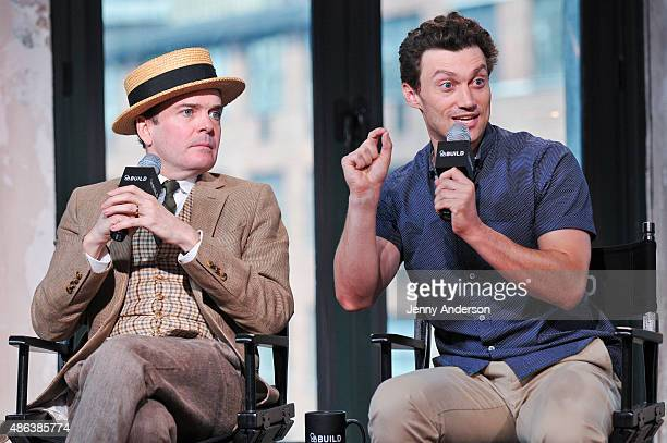 Jefferson Mays and Bryce Pinkham stars of A Gentleman's Guide To Love And Murder attend AOL BUILD Speaker Series at AOL Studios In New York on...