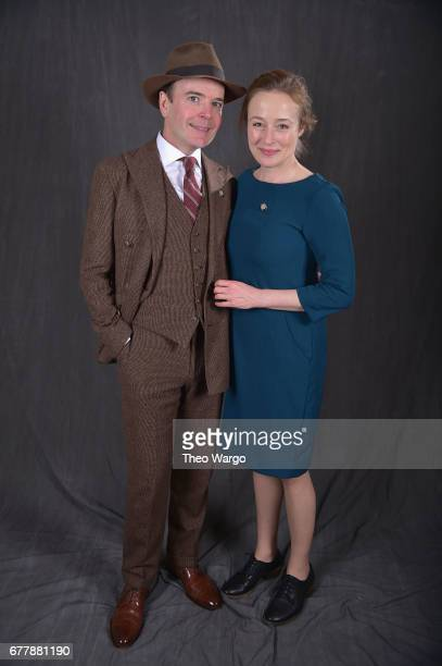 Jefferson Mays and Jennifer Ehle poses at the 2017 Tony Awards Meet The Nominees press junket portrait studio at Sofitel New York on May 3 2017 in...