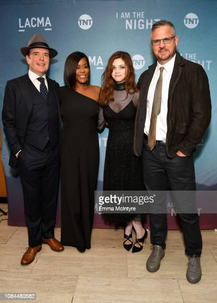 Jefferson Mays Golden Brooks India Eisley and Sam Sheridan attend the 'I Am the Night' screening at LACMA on January 17 2019 in Los Angeles...
