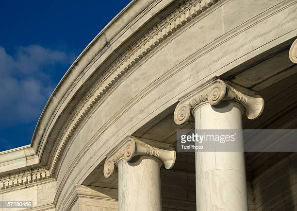 jefferson memorial detail - jefferson memorial stock pictures, royalty-free photos & images
