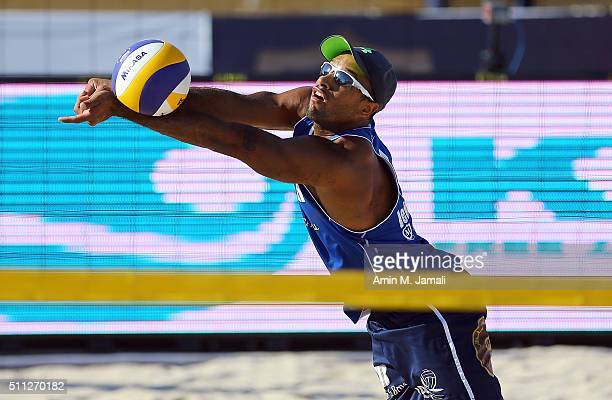 Jefferson Santos Pereira of Qatar in action during the gold medal match between Cherif Younousse and Jefferson Santos Pereira of Qatar against Oleg...
