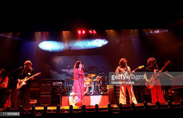 Jefferson Starship perform on stage New York LR Craig ChaquicoPaul KantnerGrace SlickMarty BalinDavid Freiberg