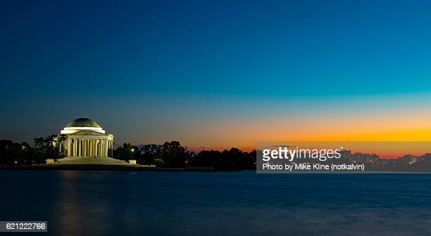 jefferson sunset - jefferson memorial stock pictures, royalty-free photos & images