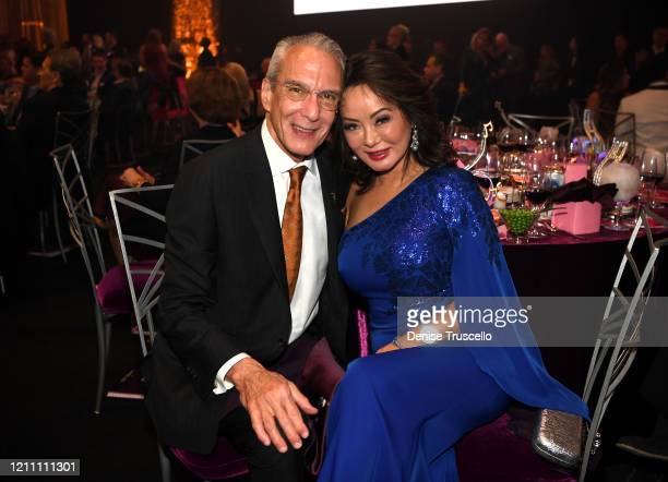 Jeffery Cummings and Kate Zhong attend the 24th annual Keep Memory Alive 'Power of Love Gala' benefit for the Cleveland Clinic Lou Ruvo Center for...