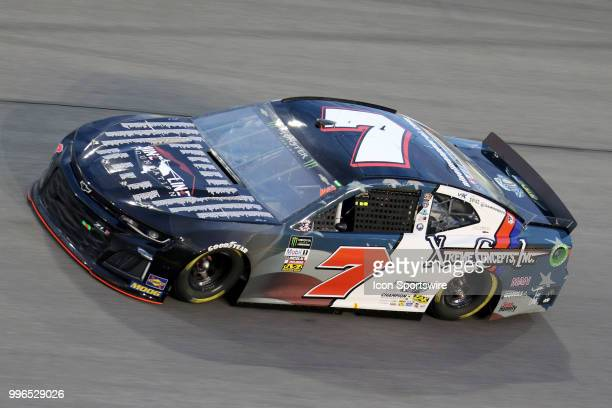 Jeffery Earnhardt driver of the Nine Line Foundation Chevy during the Coke Zero 400 Monster Energy Cup Series race on July 7 at Daytona International...