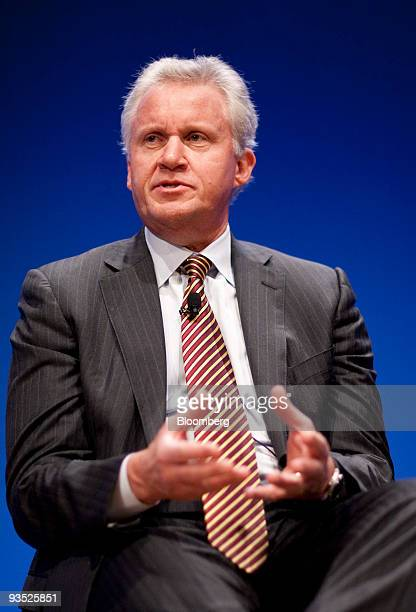Jeffery Immelt chairman and chief executive officer of General Electric Co speaks at the Innovation Economy Conference in Washington DC US on Tuesday...