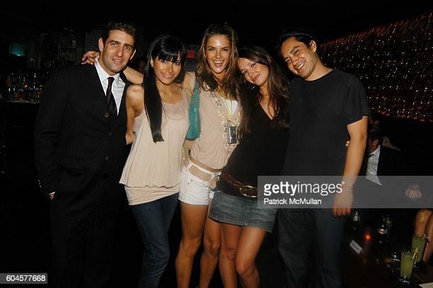 Jeffery Jah Rachel Hakimi Alessandra Ambrosio Renata Maciel and Jerome Durand attend Double Seven at Double Seven on June 20 2006 in New York City