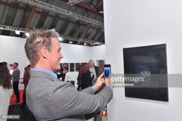 Jeffery Marks at OPENING NIGHT   ART LOS ANGELES CONTEMPORARY 9TH EDITION at Barkar Hangar on January 25 2018 in Santa Monica California